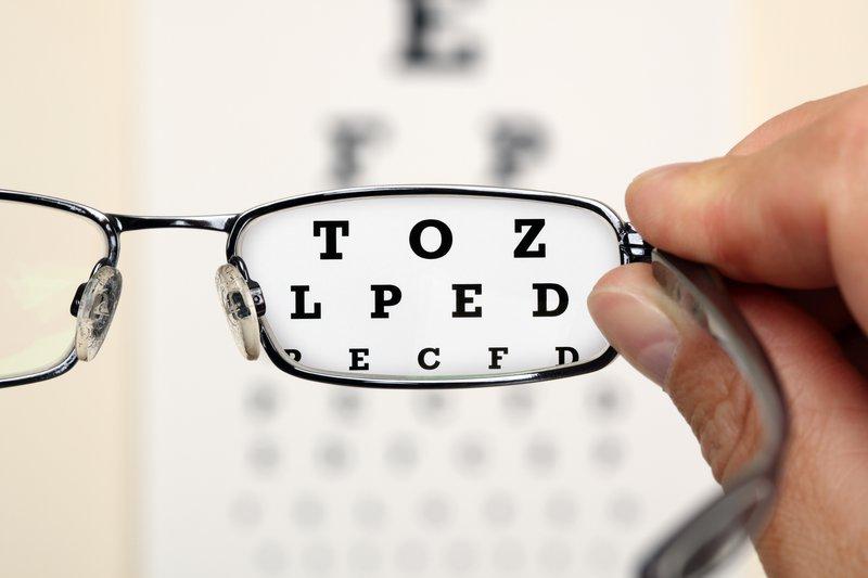 synstest med briller